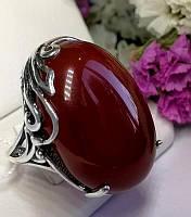 Массивное кольцо с камнем сердолик Монсерат