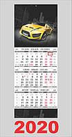 Квартальный календарь большой, Спортивное авто