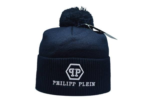 Шапка з помпоном Flexfit Philipp Plein 53-57 см Темно-синяя (F-0918-14), фото 2