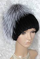 Меховая шапка комбинированная из чернобурки и ондатры