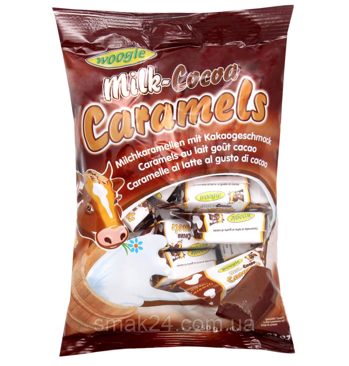 Конфеты Milk Karamels Cocoa Caramels (молочная карамель Коровка) Woogie Австрия 250г