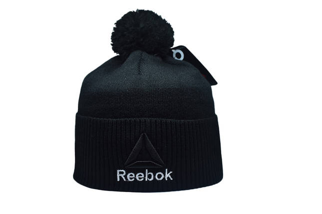 Шапка з помпоном Flexfit Reebok 53-57 см Чёрная (F-0918-24), фото 2