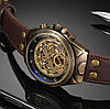 Механические часы с автоподзаводом Vintage Skeleton (brown) - гарантия 12 месяцев - Фото