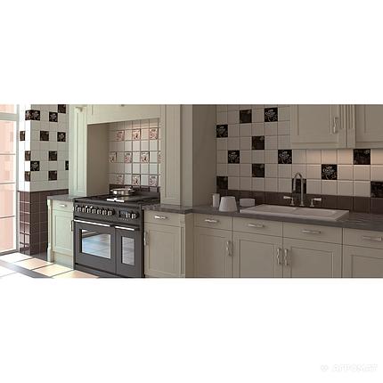 Плитка облицовочная Monopole Ceramica Kitchen MARFIL BRILLO BISEL, фото 2