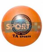 """Мяч для художественной гимнастики TA sport T-12 - 15 см. Оранжевый с блестками"""""""