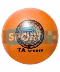 """Мяч для художественной гимнастики TA sport T-12 - 15 см. Оранжевый с блестками"""", фото 2"""