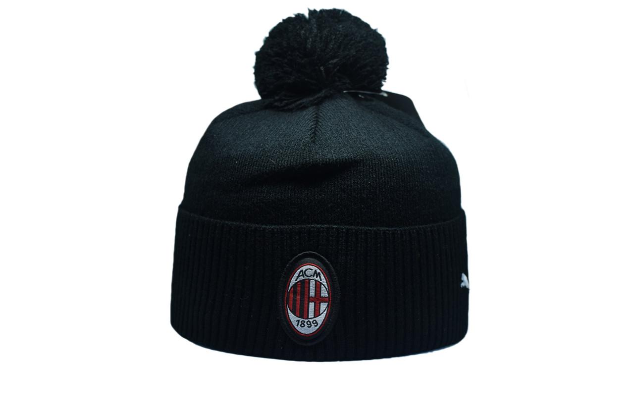Шапка з помпоном Flexfit Juventus 53-57 см Чёрная (F-0918-41)