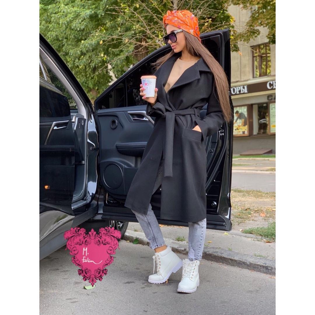 Женское стильное пальто под пояс,в расцветках(46-50 р-р)