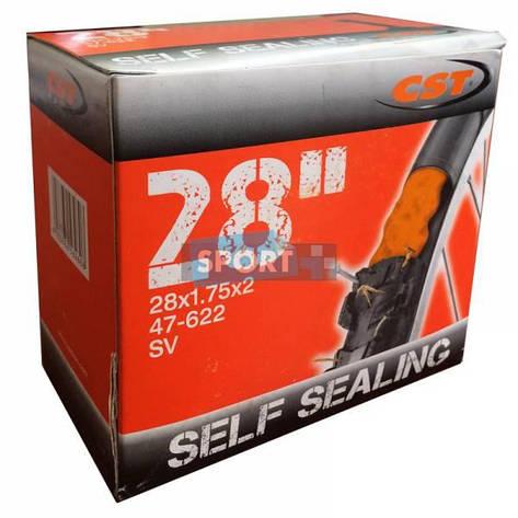Камера для велосипеда 28х1,75х2,00 CST AV 35 мм (самоклій), фото 2