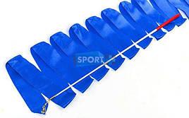 Лента для художественной гимнастики 6м C-5516-B 60см, синий