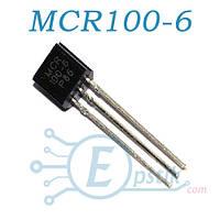 MCR100-6, тиристор 400В, 800мА, TO92