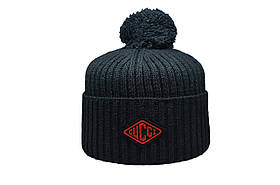 Шапка з помпоном Caps Zone Gucci 55-59 см Чорна (CZ 1018-9)