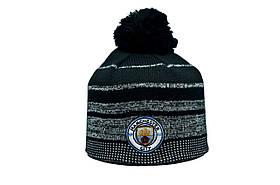 Шапка з помпоном ZH Manchester City 56-58 см Чорна (ZH 1018-5)