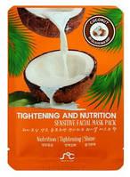 Кокосовая маска для лица из биоцеллюлозы SOC Coconut Tightening and Nutrition Mask Pack, 25 ml