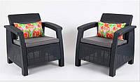 Мебельная гарнитура Corfu Duo Set Allibert Keter Curver, фото 1