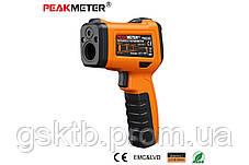 PM6530D пирометр Peakmeter, до 800 °С, температура и влажность воздуха, термопара К-типа, UV-излучатель, фото 2