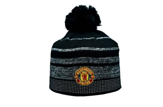 Шапка з помпоном ZH Manchester United 56-58 см Чёрная (ZH 1018-6), фото 2