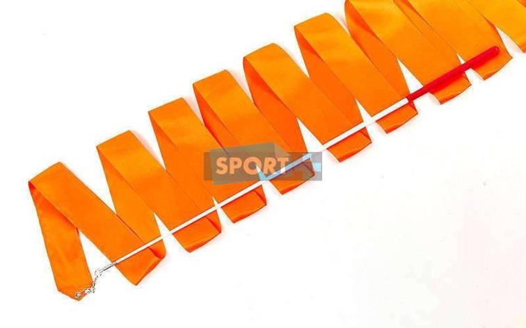 Лента для художественной гимнастики 6м C-5516-OR 60см, оранжевый, фото 2