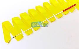 Лента для художественной гимнастики с палочкой 6м Lingo C-5516 (Желтый)