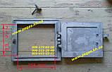Дверцята чавунна пічна чавунне лиття (290х335 мм) барбекю, мангал, грубу, фото 3