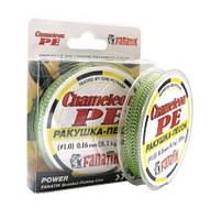 Шнур плетеный FANATIK Chameleon PE X4 100 m (#1.0) 0.16 mm 8.1kg цвет Ракушка-Песок