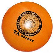 Мяч для художественной гимнастики TA sport. Диаметр 15 см жёлтый