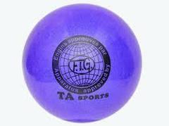 """Мяч для художественной гимнастики TA sport T-12 - 15 см. Синий с блестками"""""""