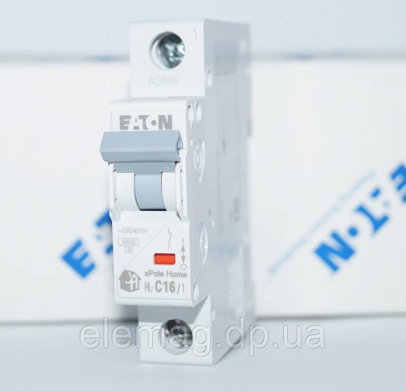 Автоматический выключатель Eaton 16A HL-C16/1 1P тип C 194731