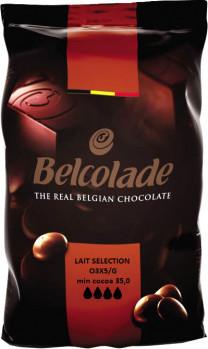 Молочный шоколад Belcolade Lait Selection в дропсах 1 кг