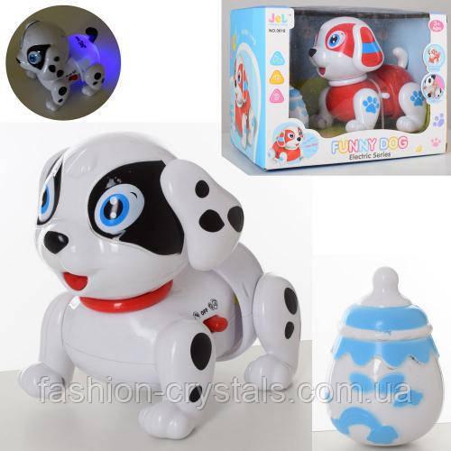 Интерактивная собака с бутылочкой 0618