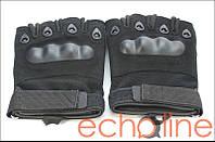Тактические полупалые перчатки XL Черный