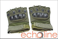Тактические полупалые перчатки L Олива