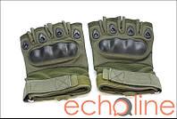 Тактические полупалые перчатки XL Олива