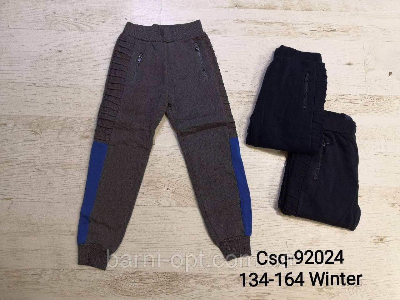 Утепленные спортивные штаны на мальчика оптом, Mr.David , 134-164 рр.