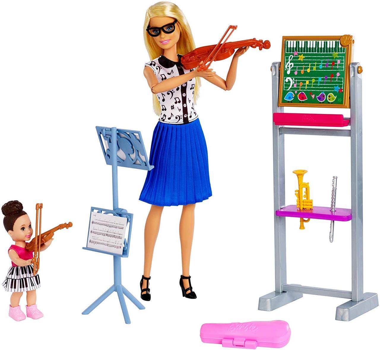 Ігровий набір Лялька Барбі Я можу бути Вчителька музики - Barbie Music Teacher FXP18