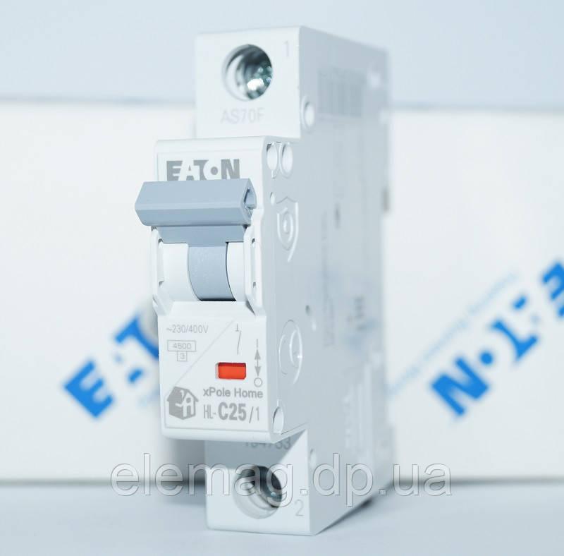Автоматический выключатель 25А тип C 1 полюс HL-C25/1 Eaton 194733