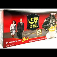 Вьетнамский натуральный растворимый кофе 3в1 с сахаром и сливками G7 TRUNG NGUYEN