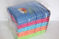 Полотенца для лица махровые ромашки упаковка 10 штук
