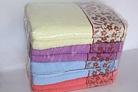 Полотенца для лица махровые с цветами 8 шт., фото 1