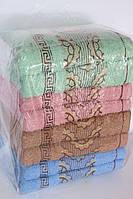 Махровые полотенца для лица золотистые 8 шт.