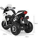 Дитячий електромобіль Мотоцикл M 3688 EL-1, BMW, Шкіряне сидіння, EVA-гума, білий, фото 9
