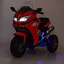 Дитячий електромобіль Мотоцикл M 3688 EL-1, BMW, Шкіряне сидіння, EVA-гума, білий, фото 10