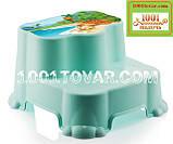 Антискользящая детская пластиковая ступенька - подставка - табурет под раковину или унитаз. Турция., фото 3