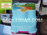 Антискользящая детская пластиковая ступенька - подставка - табурет под раковину или унитаз. Турция., фото 4