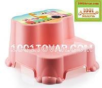Антискользящая детская пластиковая ступенька - подставка - табурет под раковину или унитаз. Турция.