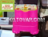 Антиковзка дитяча пластикова сходинка - підставка - табурет під раковину або унітаз. Туреччина., фото 6