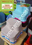 Антиковзка дитяча пластикова сходинка - підставка - табурет під раковину або унітаз. Туреччина., фото 9