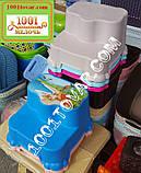 Антискользящая детская пластиковая ступенька - подставка - табурет под раковину или унитаз. Турция., фото 10