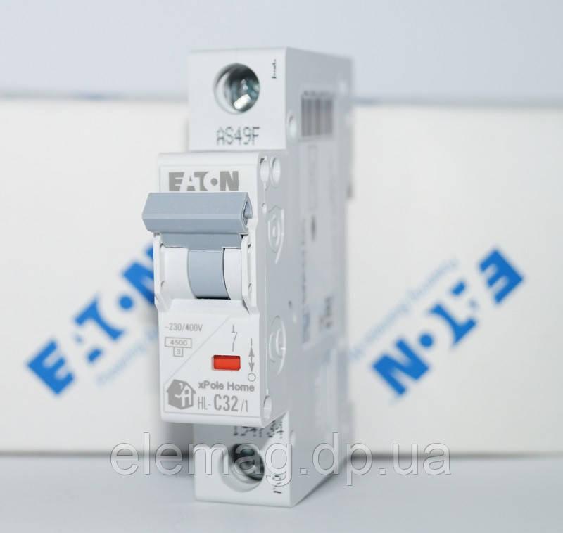 Автоматический выключатель 32А тип C 1 полюс HL-C32/1 Eaton 194734