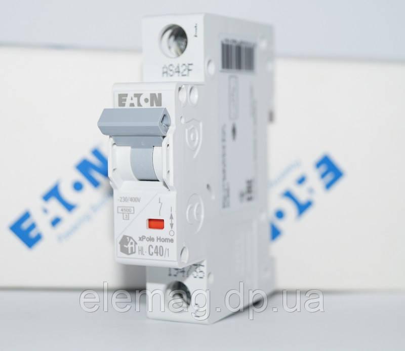 Автоматический выключатель 40 А тип C 1 полюс HL-C40/1 Eaton 194735